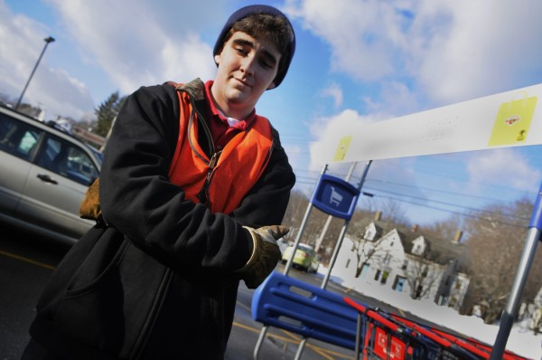 Cody Gray, 16, of Bucksport pauses while he talks about his friend and Hannaford co-worker Tyler Manduca, 18, who died in a multiple vehicle accident in Palermo on Christmas Day.