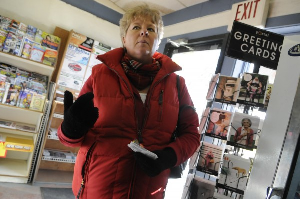 At Toziers II in Bucksport on Monday afternoon, Dec. 26, 2011, Gloria Deredin of Bucksport shares some fond memories of  Tyler Manduca, 18, and his brother Kyle Manduca, 21, who died in a two-vehicle accident in Palermo on Christmas Day.
