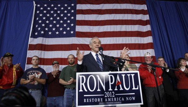 Republican presidential candidate Rep. Ron Paul, R-Texas, speaks during a campaign event honoring veterans at the Iowa State Fair Grounds in Des Moines, Iowa, Wednesday, Dec. 28, 2011.