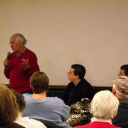 Rep. John Martin, D-Eagle Lake, speaks during a forum at Northern Maine Community College on Wednesday, Dec. 28, 2011.