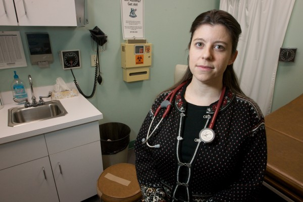 Dr. Shuli Bonham, medical director at the Health Care for the Homeless Clinic in Portland, is concerned Gov. LePage's proposed MaineCare cuts will hurt her program.