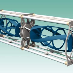 Tidal power turbine being moved to benefit fishermen