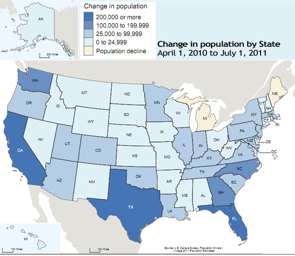 Maines Population Essentially Flat In Last Year State Bangor - Whitest Plaaes In Us Map