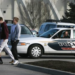 Virginia Tech gunman kills officer, later found dead