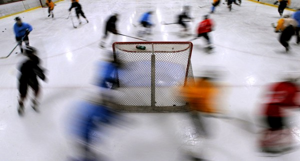 Maine Freeze Bantam Tier II and III teams skate during practice at the Penobscot Ice Arena in Brewer on Thursday.