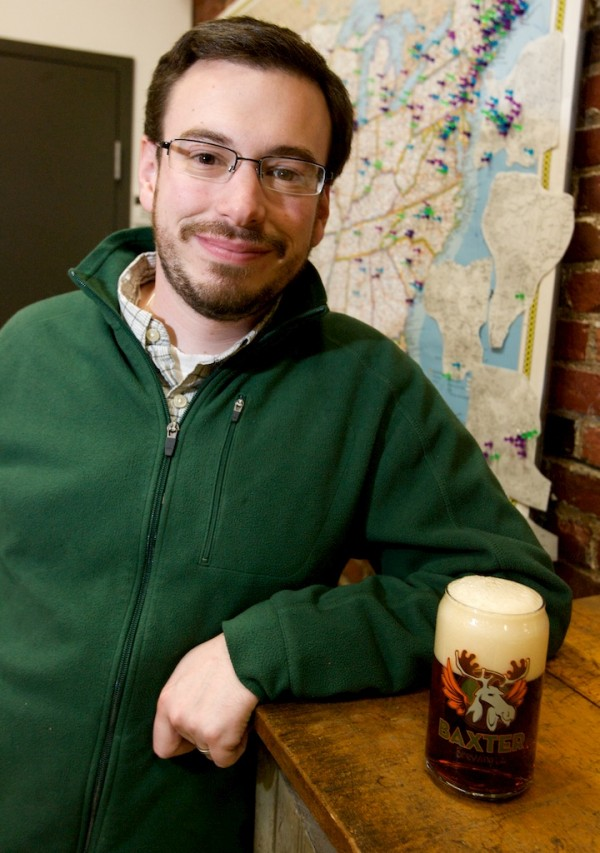 LUKE LIVINGSTON, 27, grew up in Auburn and founded Baxter Brewing last year at the Bates Mill Complex in Lewiston. The renovations started in June 2010 and the first shipment of the new beer went out seven months later. The brewery, which sends its three beers out in cans and kegs only, is set to ship 5,040 barrels this year — that's 156,240 gallons.