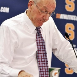 Syracuse coach keeps focus in tumultuous season