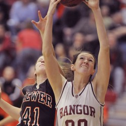 Bangor fends off vigorous Brewer challenge for 61-57 girls basketball victory