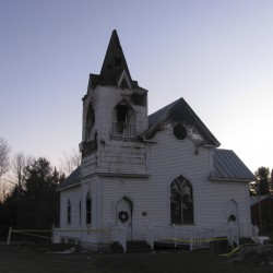 First service held after Thorndike church fire
