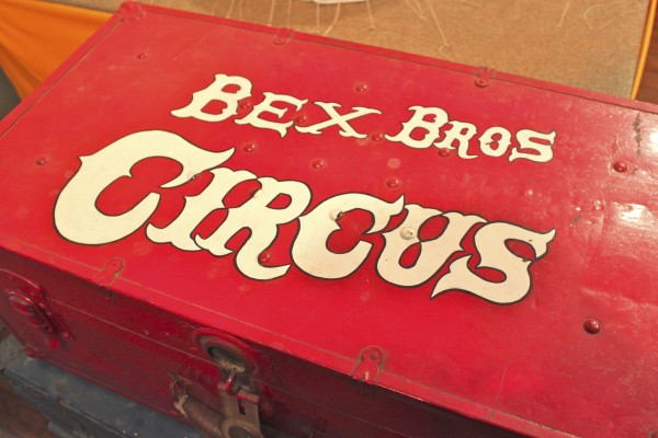 The Bex Bros. Circus, a model circus constructed by Les Bex of Camden, is on display at the Penobscot Marine Museum Main Street Gallery in Searsport through Jan. 29.