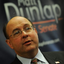 Former Maine Secretary of State Matt Dunlap announced his candidacy for the U.S. Senate on Saturday, Dec. 10, 2011 in Old Town.