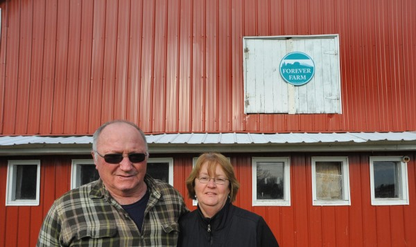 Adrian Pray and his wife Valerie of Bradford sold some of their land to the Maine Farmland Trust. The organization resells the land to other farmers but through agricultural easements they ensure that it can only be used for farming.