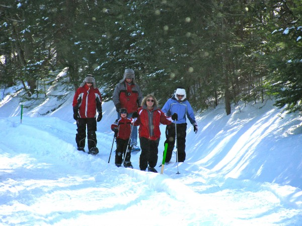 Skiers enjoy the trails at Aroostook State Park on Feb. 26, 2011.