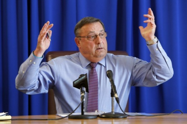 Gov. Paul LePage speaks at a news conference, Thursday, Dec. 15, 2011, at the State House in Augusta, Maine. He said that he's proposing the cuts to Medicaid because the state is not taking in enough tax revenues to continue to support the program.