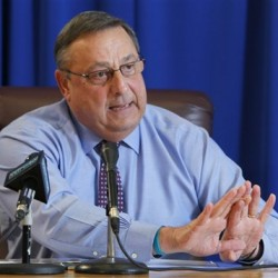 Gov. Paul LePage speaks at a news conference Thursday, Dec. 15, 2011, at the State House in Augusta.