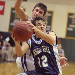 Inside strength propels unbeaten Presque Isle boys basketball team past Old Town