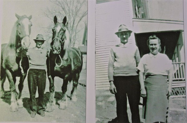 Harry and Alice Rancourt pose for a photo at their farm in Winterport in the 1950s.