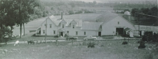 Meadowsweet Farm, 5 miles from the village of Winterport, photographed in the 1950s, when it was then home of the Rancourt family.