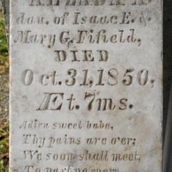 Stolen stone back in Hampden cemetery