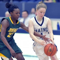 Late 3-pointer lifts Siena to come-from-behind win over UMaine women's basketball team