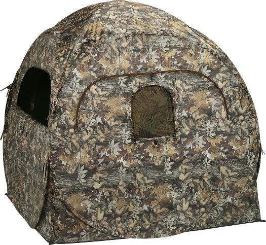 Trekker T-200 Blind (on sale at Cabela's for $49.99, original price, $89.99) is a transportable camouflage blind that conceals the hunter from game and acts as a great shield for inclement weather.