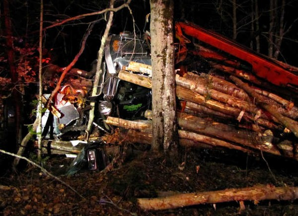 Route 26 in Woodstock was shut down for about an hour Wednesday night after a rollover accident involving a logging truck. Dan Dolloff of Rumford, owner of Dolloff Logging in Canton, was able to walk to a PACE ambulance and was taken to Stephens Memorial Hospital.