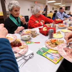 Jewish community in Rockland serves Christmas dinner at church