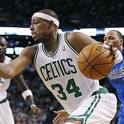 Pierce scores 34 as Celtics tip Mavs in double-OT
