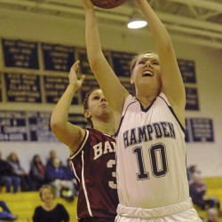 Bangor height, defense overwhelm Hampden in Class A girls basketball opener