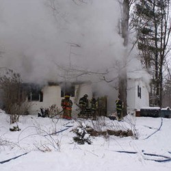 Sunday blaze destroys Poland home