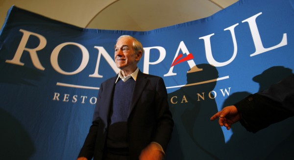 Republican presidential candidate, Rep. Ron Paul, R-Texas, campaigns in Bangor on Friday, Jan. 27, 2012.