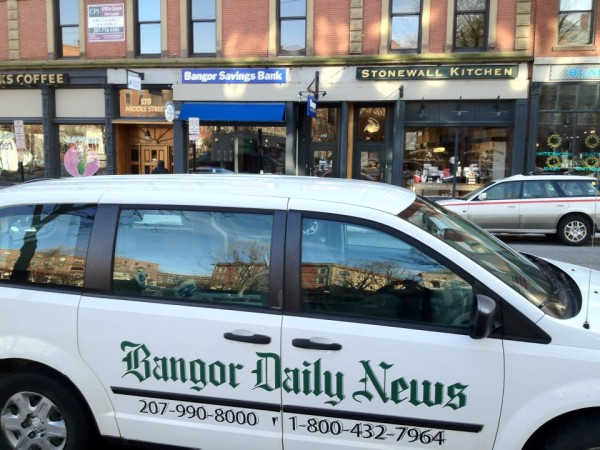 One of the BDN's circulation vans is seen recently in Portland.