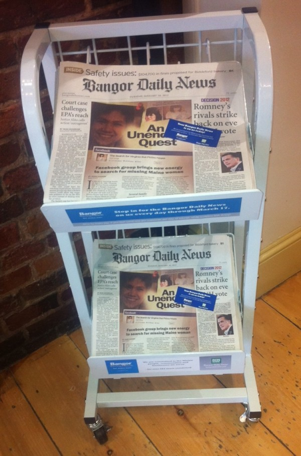 The papers will be offered for free at eight Bangor Savings Bank locations in the Greater Portland area.