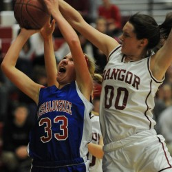 Height, aggressive attack power Bangor girls past Erskine