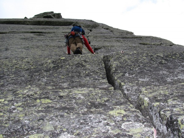 Charles Drew of Portland climbs The Flatiron, one of Mount Katahdin's technical routes in Baxter State Park in the summer of 2010. He is climbing with Jeremy Robichaud, who will be leading the Bangor Y's climbing program as a part of the new Outdoor Adventure Club set to launch on Feb. 12.