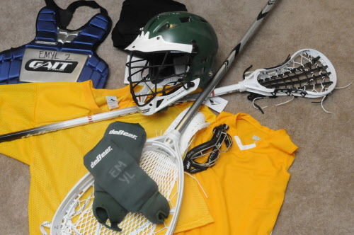 Eastern Maine Youth Lacrosse recently a generous donation of surplus and used lacrosse equipment from Husson University to supplement equipment acquired through a grant from U.S. Lacrosse.