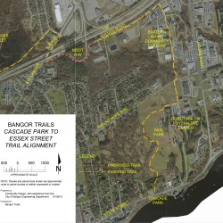 Bangor to pursue grant for Essex Street-Cascade Park trail
