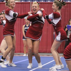 Hard work helps Lewiston, Central Aroostook cheerleaders win A, D crowns
