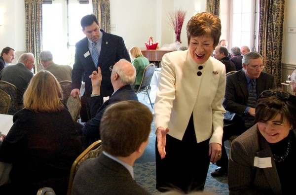 Sen. Susan Collins at the University of Maine on Tuesday, Jan. 3, 2012.