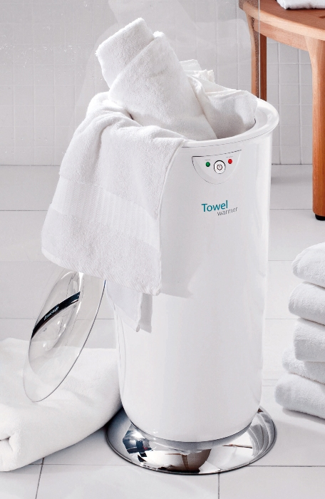 Brookstone's towel warmer can make your bathrobe nice and toasty, too.