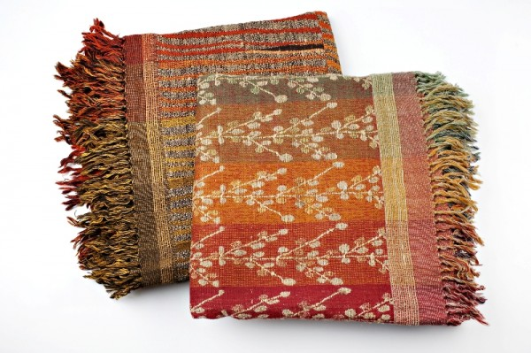 What feels better than curling up under a nice blanket? Indian weaver Neeru Kumar makes colorful hand-woven throws out of wool and silk.