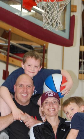 Intramural basketball and soccer activities in and around Harrington are a labor of love for Dan and Mindy Kane of Addison, who organized the program two years ago to ensure that their two sons, Brantley, 8, and Brayden, 4, would embrace their parents' enthusiasm for athletics. More than 80 K-5 students from the area take part in winter basketball and summer soccer events.