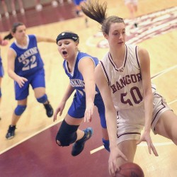 Brochu powers Bangor rout of Hampden in schoolgirl basketball opener