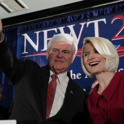 Gingrich's quest for glory ends as a punch line