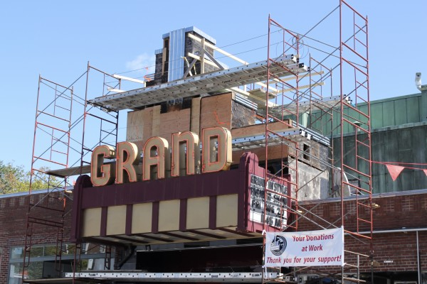 The Grand Theatre in Ellsworth is being restored to its 1938 magnificence.