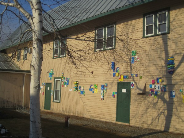 Student artwork crops up all over campus.