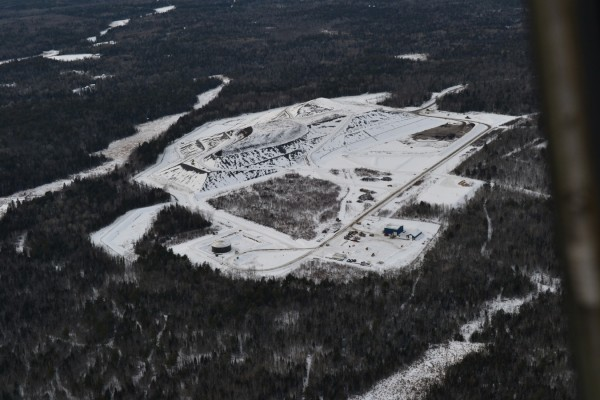 Aerial photograph of Juniper Ridge landfill taken Jan. 12, 2012.