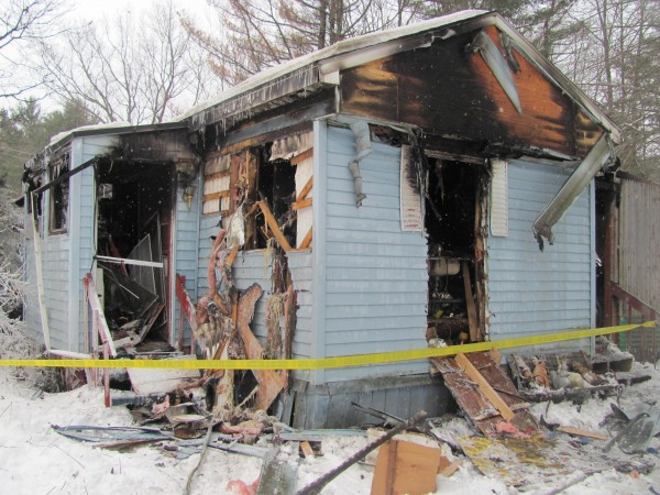 A fire at 5 Larry Drive in Lisbon early Monday swept through the entire mobile home. The lone resident, 41-year-old Richard A. Davis, died in the blaze.