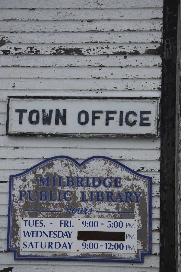 Town officials in the Washington County community of Milbridge met Thursday, Jan. 19, to discuss moving forward with plans to demolish an existing century-old building and then constructing a new $600,000 facility to house the town office and library.