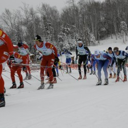 Cross-country skiers enjoy the local trails
